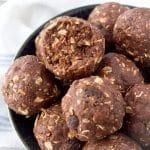 Chocolate Peanut Butter Energy Bites (Gluten Free, Vegan, No Bake)