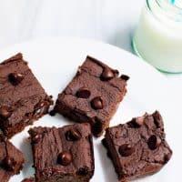 Flourless Double Chocolate Brownies (gluten free)