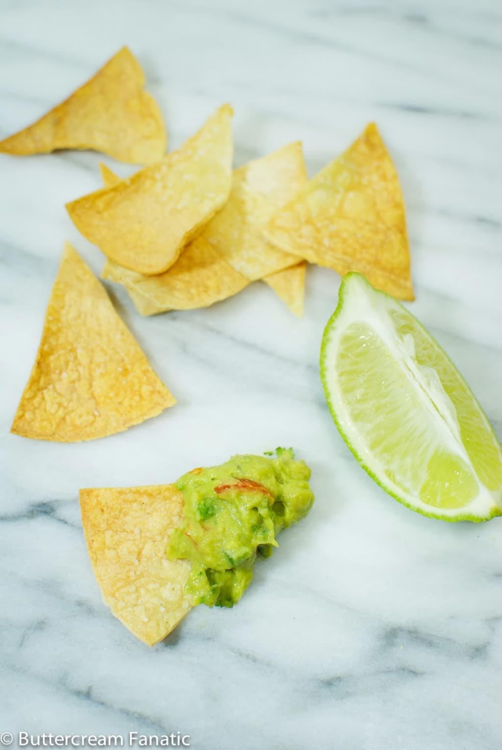 Healthy Homemade Baked Tortilla Chips from www.buttercreamfanatic.com