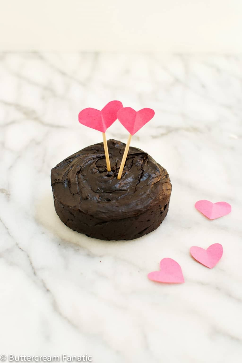 Warm and gooey flourless chocolate fudge cake for two. It's guilt-free ...