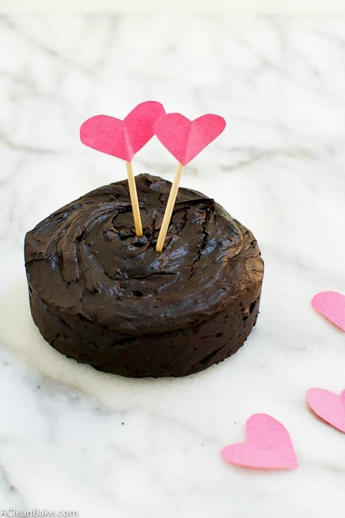 Flourless Chocolate Fudge Cake for Two