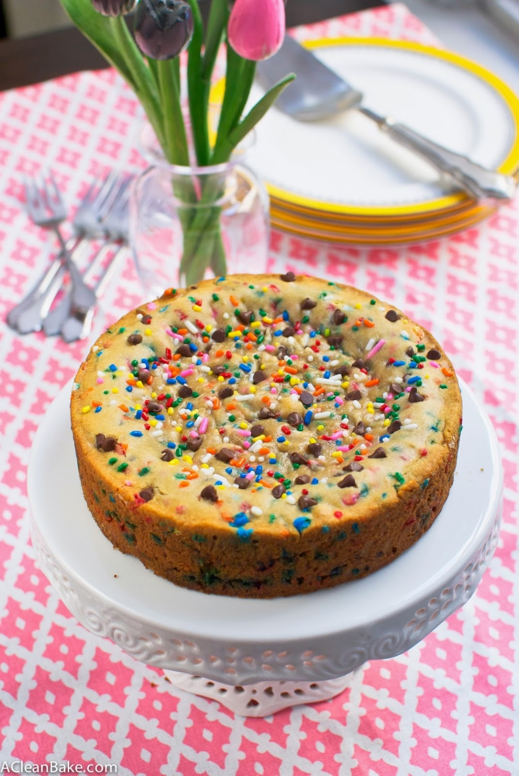 Gluten-Free and Lactose-Free Deep Dish Chocolate Chip Cookie Cake