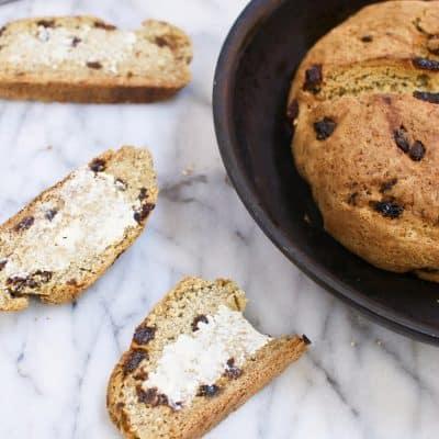 Gluten Free and Vegan Irish Soda Bread