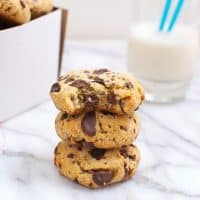 Thick and Soft Grain-Free Chocolate Chip Cookies