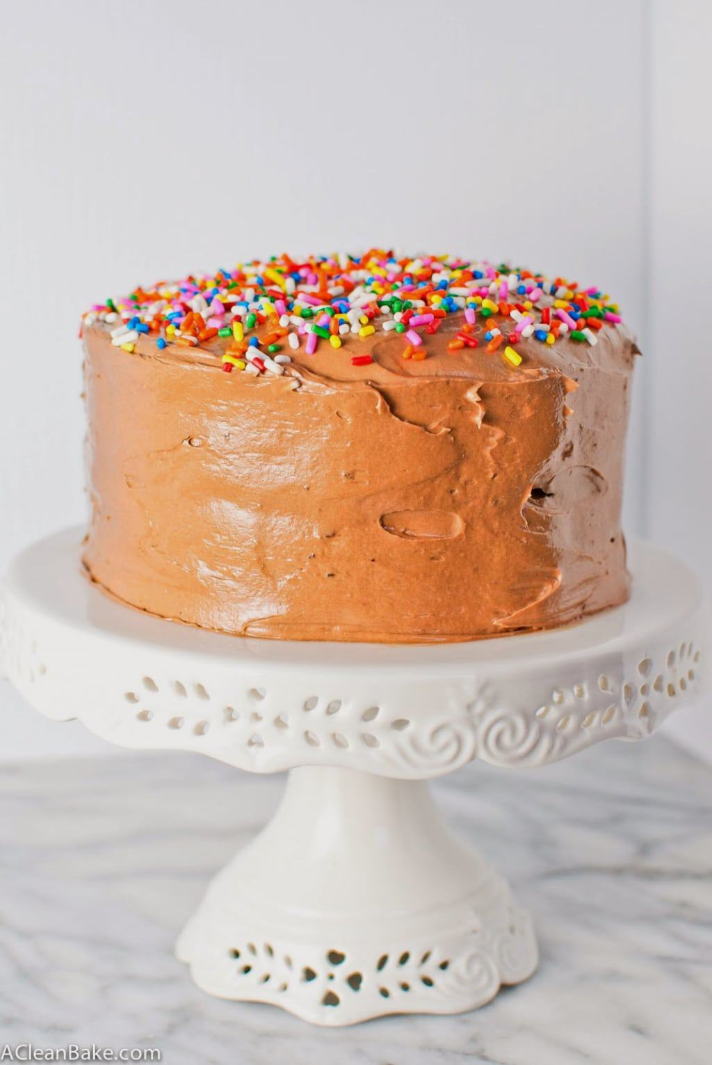 Secretly healthy gluten-free layer cake. You'll never know it's gluten-free!