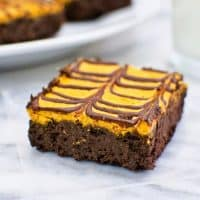 Secretly-Healthy Pumpkin Cheesecake Brownies