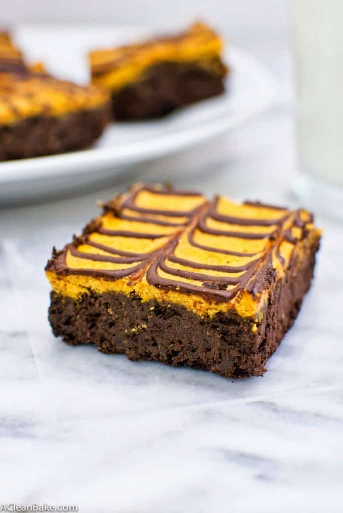 Gluten Free Pumpkin Cheesecake Brownies