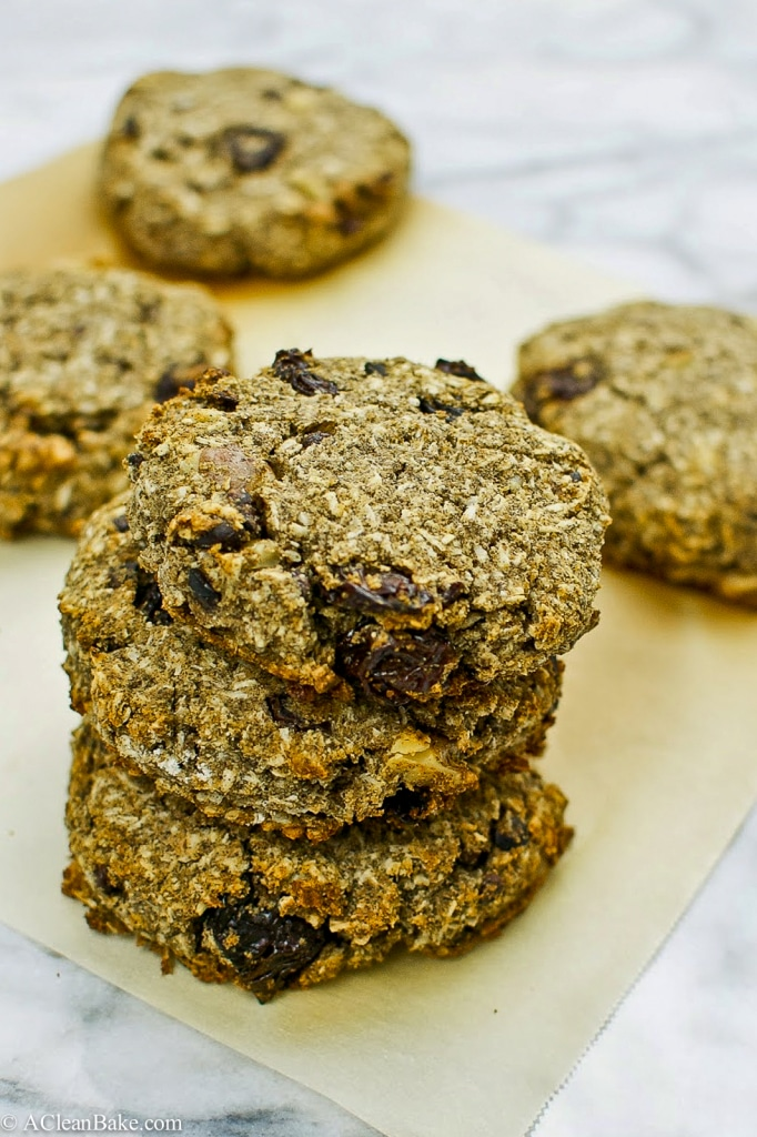 Gluten Free and Whole Grain Coconut Cherry Breakfast Cookies-2