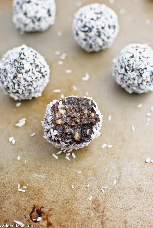 4-Ingredient Chocolate Coconut Truffles (Raw, Grain Free and Vegan)