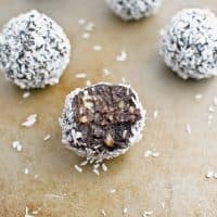 4-Ingredient Chocolate Coconut Truffles