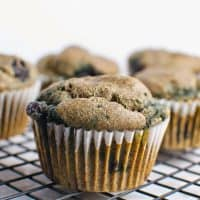 Buckwheat Blueberry Muffins (gluten free, whole grain)