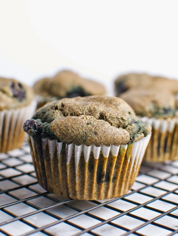 Buckwheat Blueberry Muffins