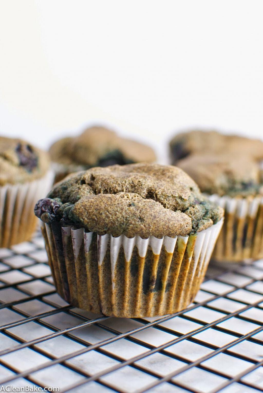 Buckwheat Blueberry Muffins (gluten free, whole grain)