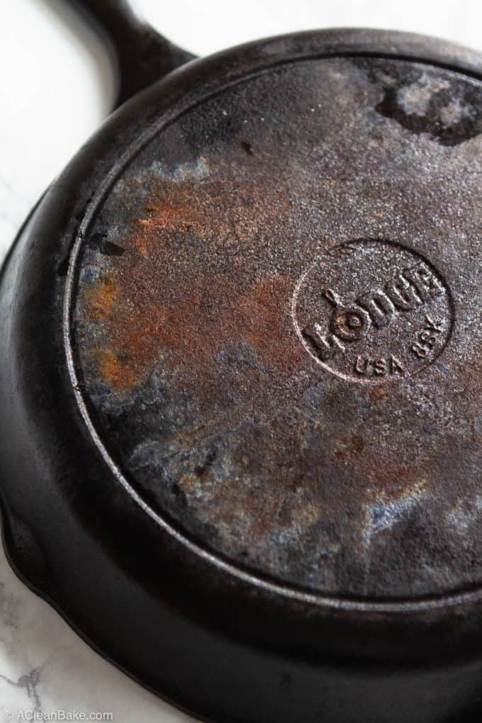 How to clean a cast iron skillet: How to remove rust from a cast iron skillet