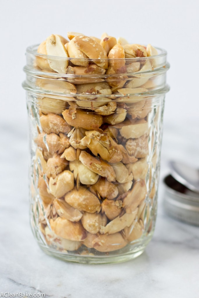 Make your own peanut butter at home - it's quick, easy and cheap!!