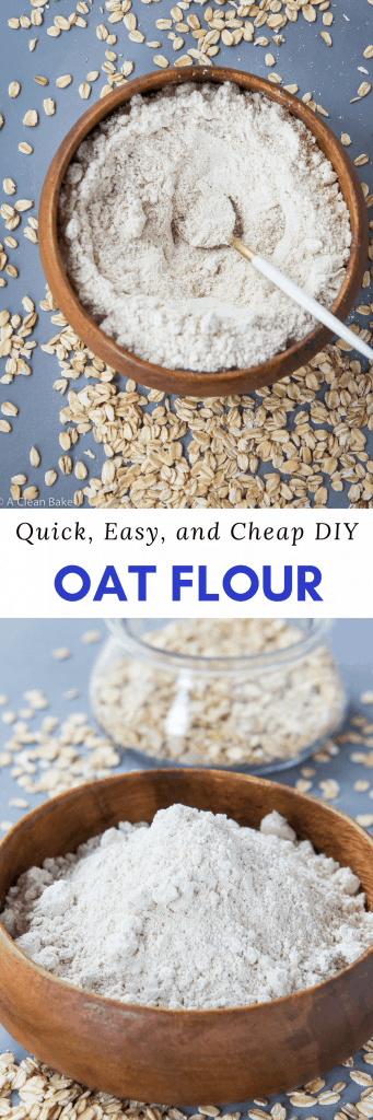 How to make your own Oat Flour. It's quick, cheap, and so easy! (Gluten Free)