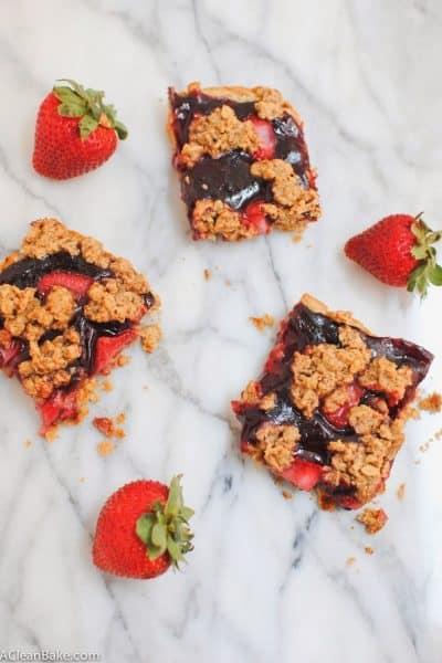 Berry Crumble Bars (gluten free and vegan)
