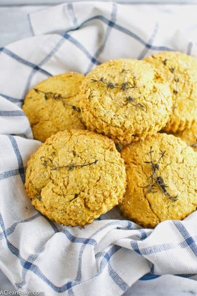 Butternut Squash and Thyme Biscuits (Gluten free and vegan)