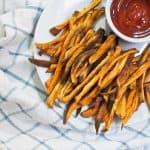 Baked Sweet Potato Fries #BurgerWeek