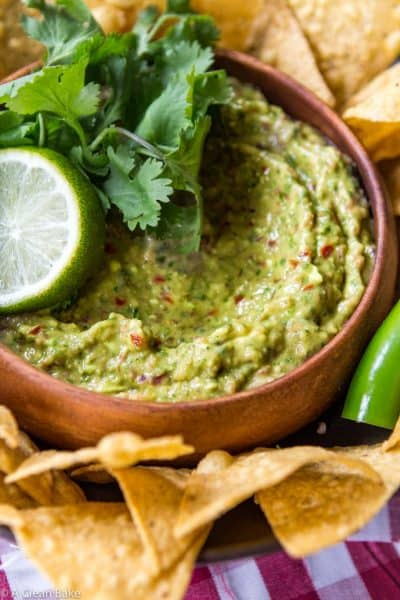 Guacamole in the Food Processor (Gluten Free, Paleo, and Whole30)