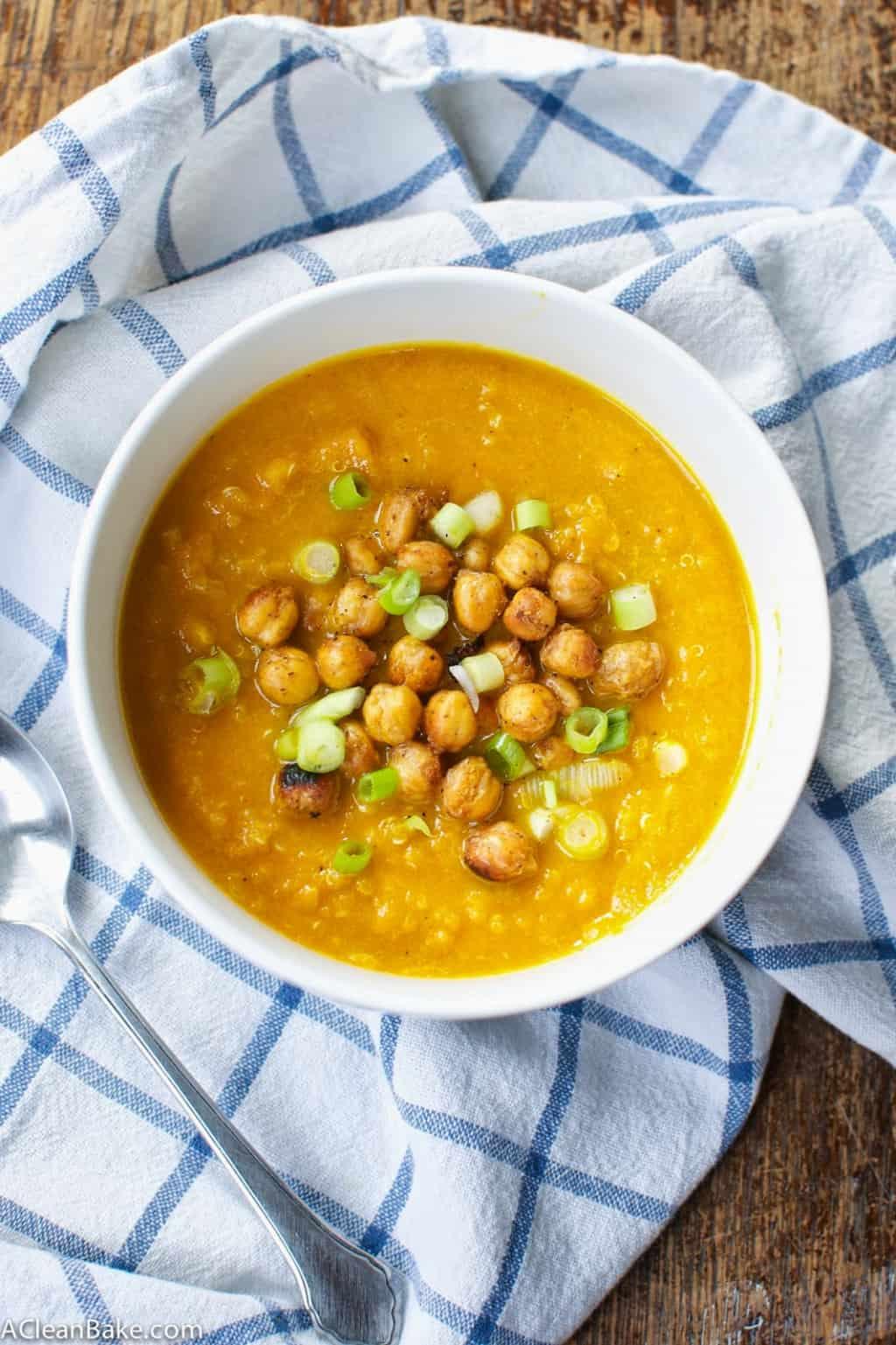 Cold Carrot Quinoa Soup