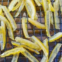 Candied Lemon Peels (and Lemon Simple Syrup)