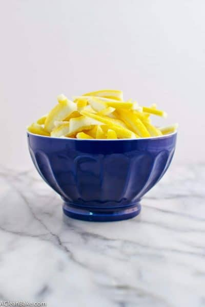 Clean Eating Candied Lemon Peel and Lemon Simple Syrup
