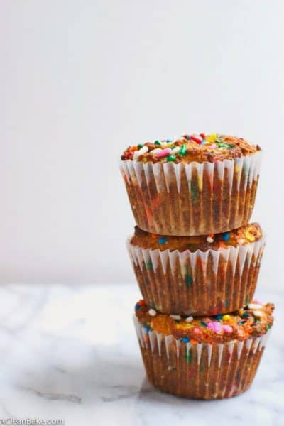 Grain-Free Birthday Cake Muffins (gluten free and paleo)
