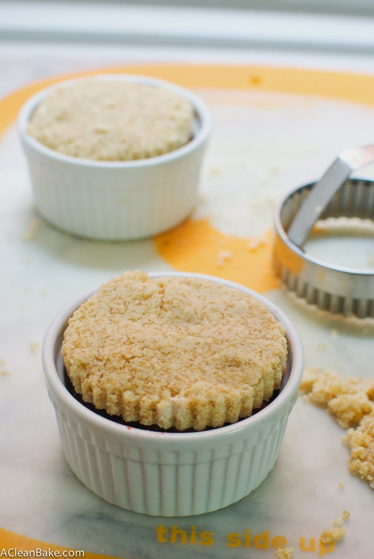 Grain-Free Single-Serve Cherry Rhubarb Pies (#Paleo and #Vegan)