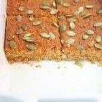 Pumpkin Baked Quinoa Bars