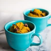 Small Batch Pumpkin Mug Muffins