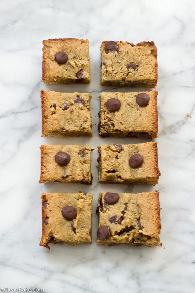 Grain Free Blondies from acleanbake.com