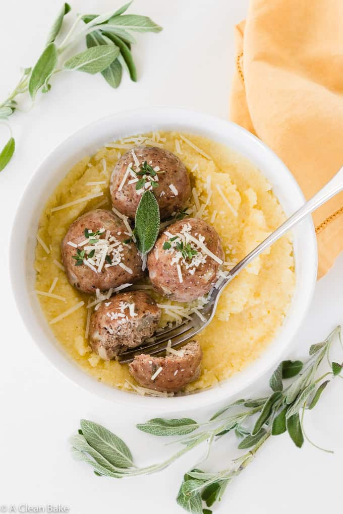 Baked Paleo Turkey Meatballs with Sage