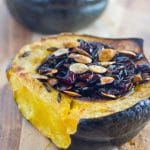 Cranberry and Wild Rice Stuffed Acorn Squash (Gluten Free)