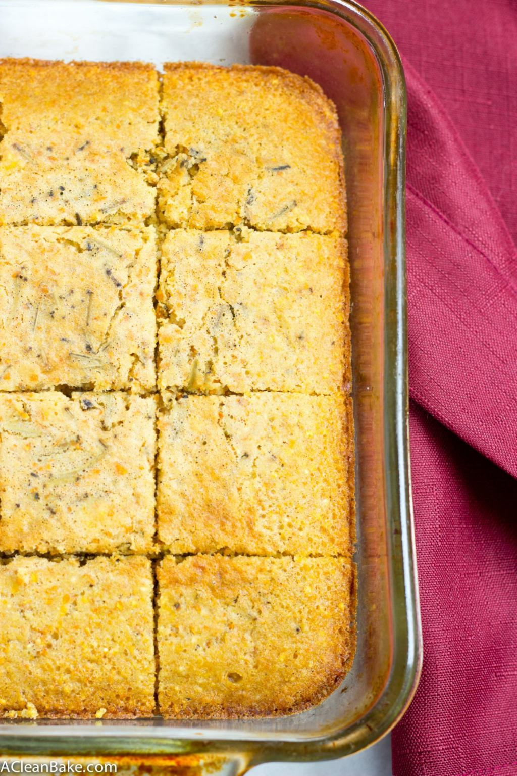 Rosemary and Olive Oil Cornbread | A Clean Bake