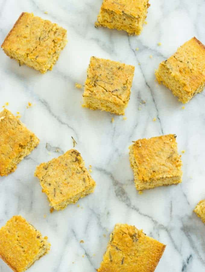 Rosemary and Olive Oil Cornbread
