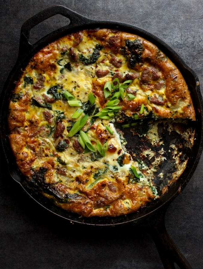 Guest Post | Frittata with Turkey Italian Sausage and Kale