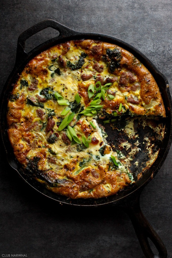 Guest Post | Frittata with Turkey Italian Sausage and Kale ...