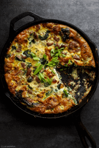 Paleo Frittata with Italian Sausage and Kale | Club Narwhal
