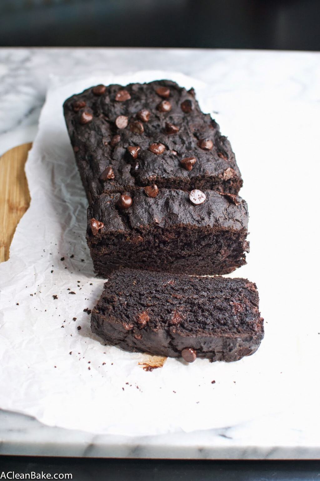 Clean Eating Gluten Free Double Chocolate Zucchini Bread