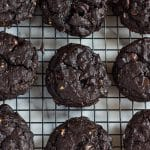 Gluten Free Double Chocolate Cherry Oatmeal Cookies
