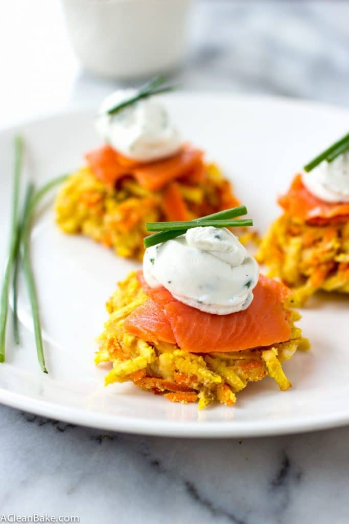 Gluten Free White Sweet Potato and Carrot Latkes