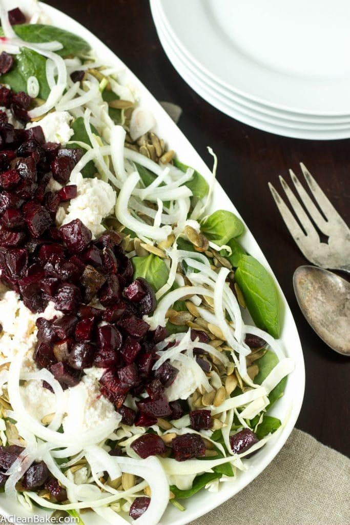 Roasted Beet and Pumpkin Seed Winter Salad #whole30 #glutenfree #paleo #21dsd
