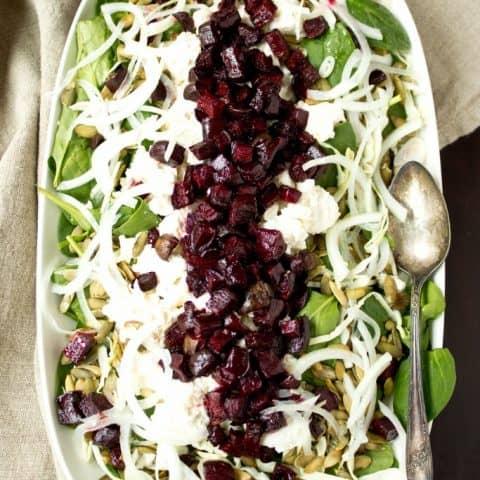 Roasted Beet and Pepita Winter Salad