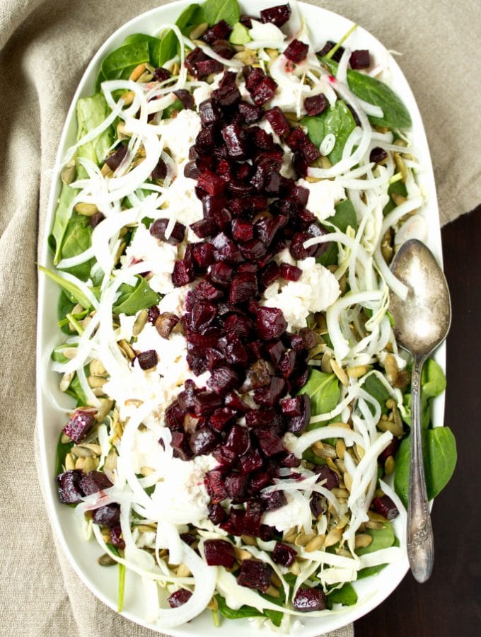 Roasted Beet and Pepita Winter Salad