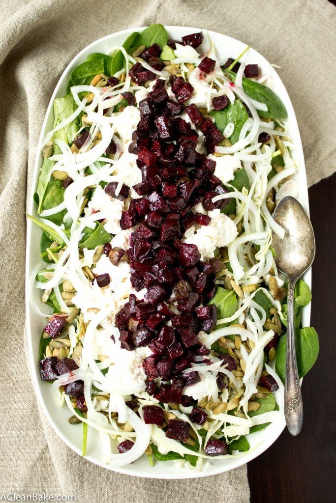 Roasted Beet and Pepita Winter Salad (vegan, gluten-free, paleo-friendly)