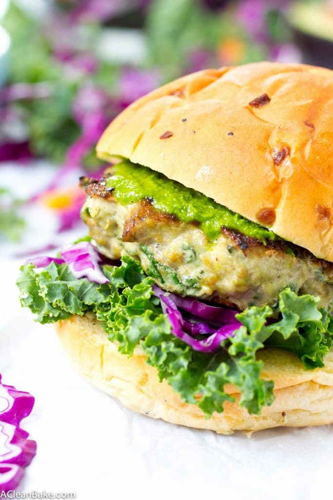 Portabello and Kale Turkey Burgers #paleo #glutenfree