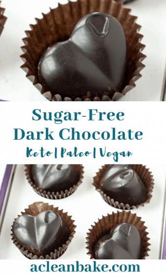 Homemade Sugar-Free Dark Chocolate   A Clean Bake