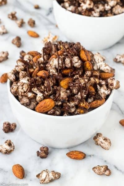 Spicy Chocolate Popcorn Snack Mix (gluten free and vegan)