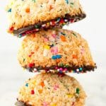 Chocolate-Dipped Funfetti Macaroons (Gluten-Free, Grain-Free, Sugar-Free, and Paleo)